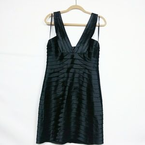 BCBG Maxazria Black Tiered Dress Size 12